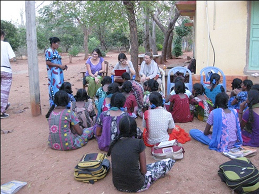 INTERACTION WITH THE GIRLS BY VOLUNTEERS